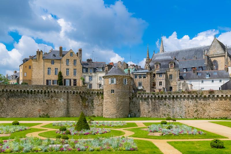 Vannes, średniowieczny miasto w Brittany obraz stock