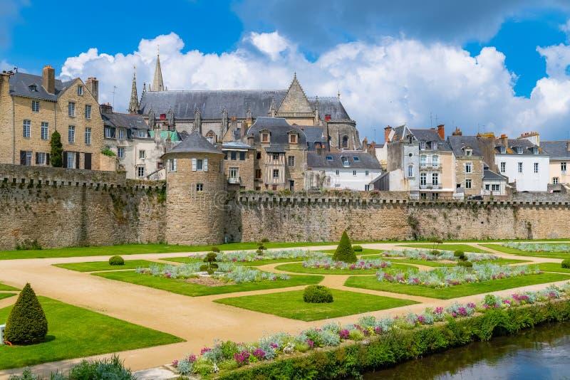 Vannes, średniowieczny miasto w Brittany fotografia royalty free