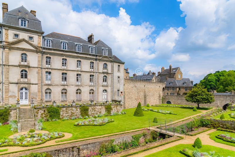 Vannes, Francja, średniowieczny miasto w Brittany obrazy stock