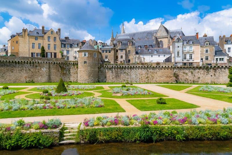Vannes medeltida stad fotografering för bildbyråer
