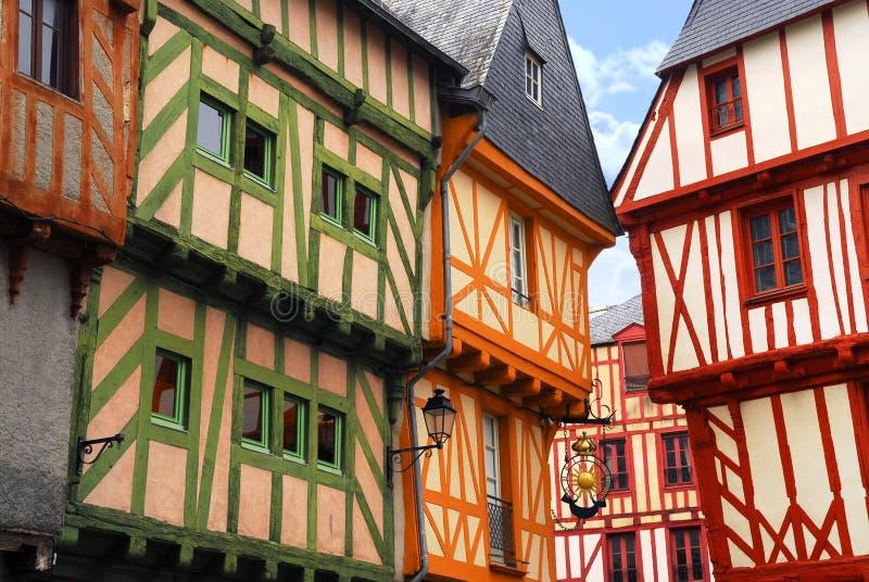 Vannes medieval, France fotografia de stock