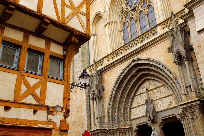 Vannes medieval, Francia imagen de archivo libre de regalías