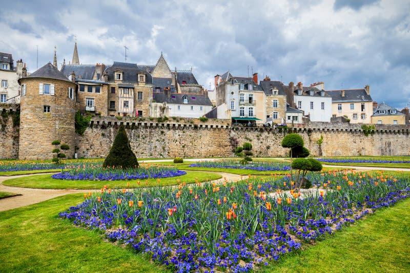 Vannes, une ville médiévale de Brittany Bretagne dans les Frances images libres de droits