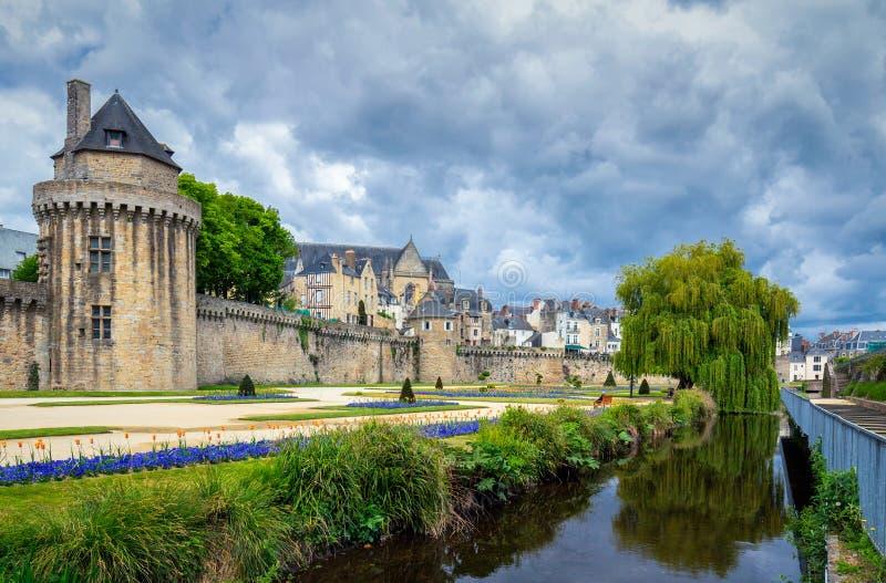 Vannes, une ville médiévale de Brittany Bretagne dans les Frances images stock