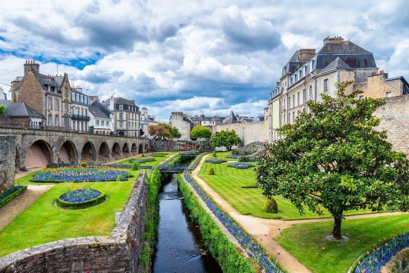 Vannes, une ville médiévale de Brittany Bretagne dans les Frances photographie stock