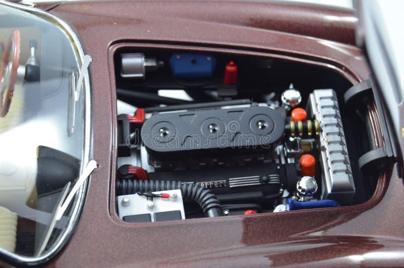 Vano motore dell'automobile di modello dell'elite di Hotwheels di 1:18 di Ferrari 250GT Berlintta Lusso Steve McQueen immagini stock libere da diritti