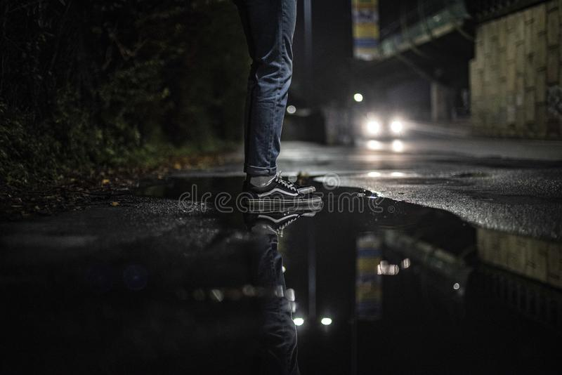 Vans in the night royalty free stock image