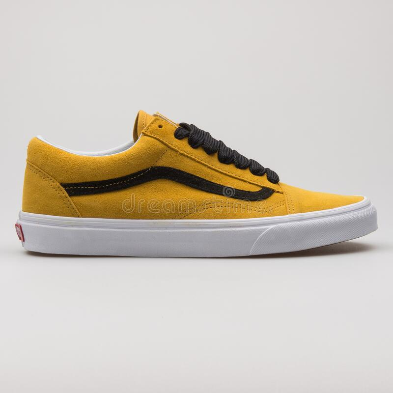 Vans Old Skool Yellow, Black And White
