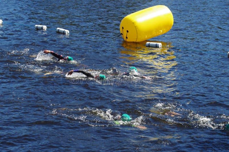 Vansbro Triathlon 30 06 2018 fotografia royalty free