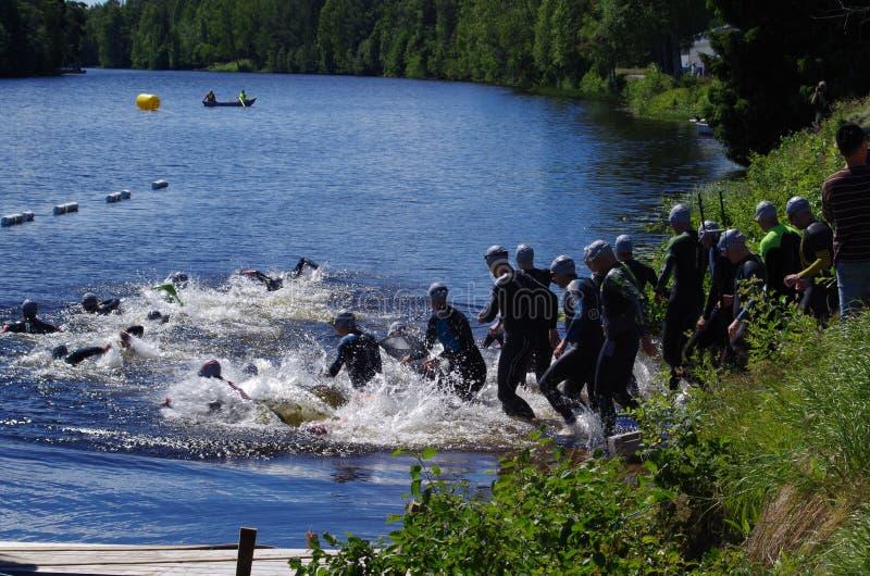 Vansbro Triathlon 30 06 2018 fotografia stock