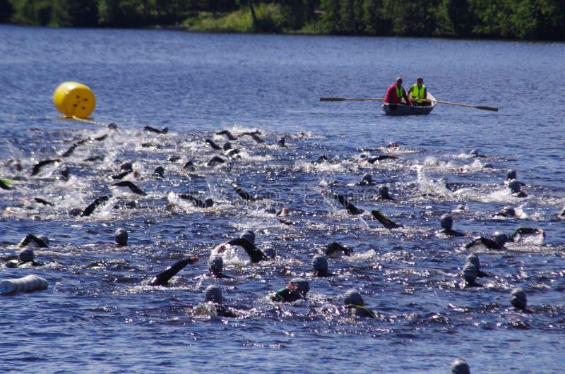 Vansbro Triathlon 30 06 2018 zdjęcie stock