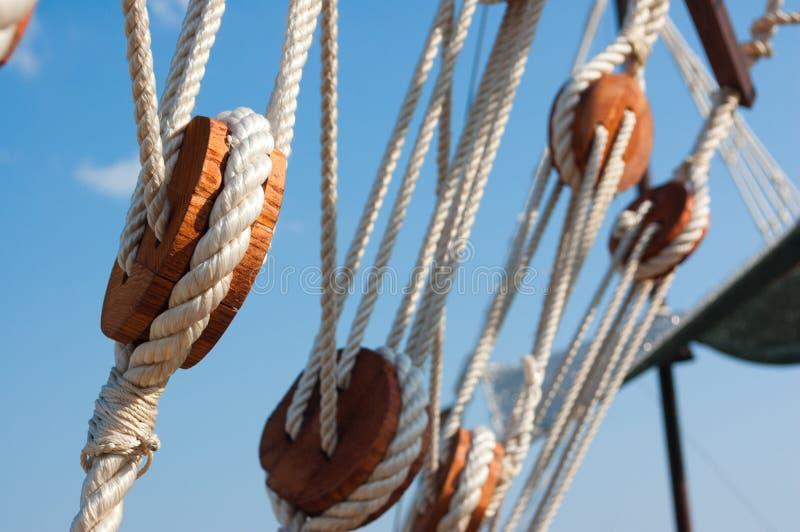 Download Vant of the ship stock image. Image of knot, bundle, details - 27711511