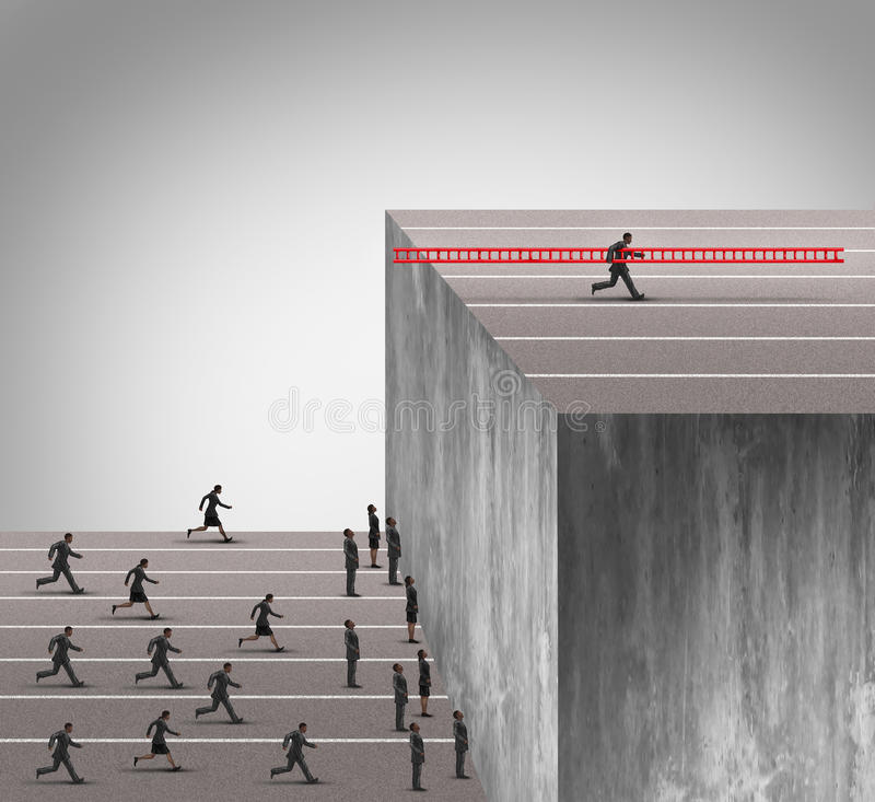 Vantagem da inovação do negócio ilustração do vetor