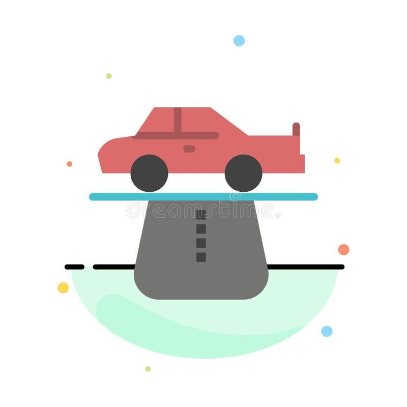 Vantaggio, autorità, automobile, tappeto, modello piano dell'icona di colore dell'estratto di comodità illustrazione vettoriale