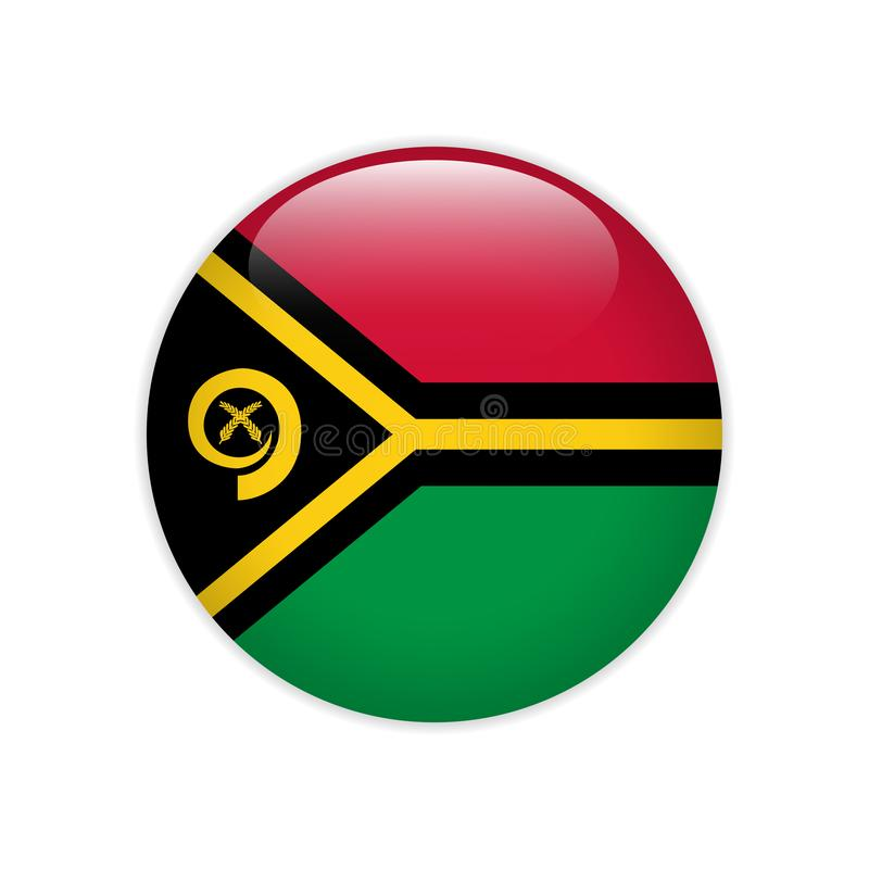 Vanuatu Flag. Round Flying Template With National Color ...