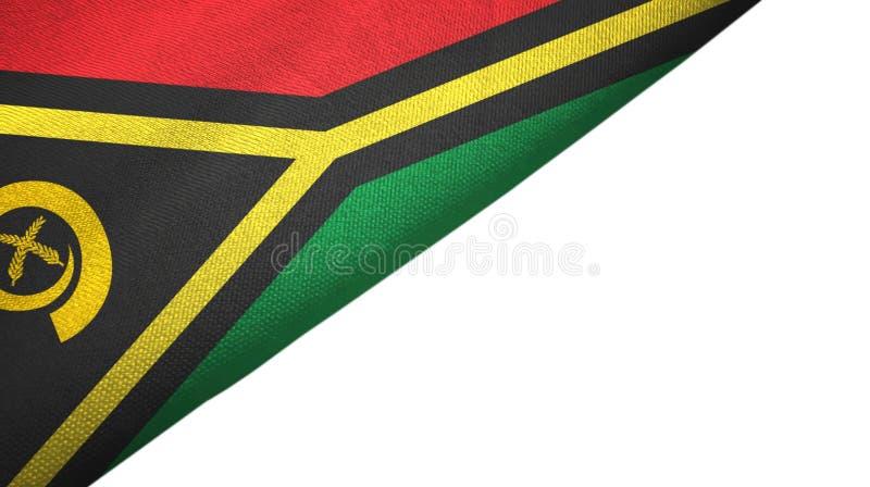 Vanuatu flagi lewa strona z puste miejsce kopii przestrzenią ilustracja wektor
