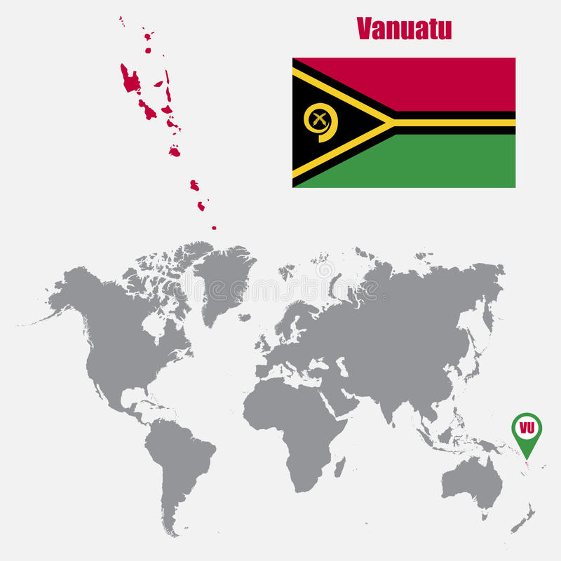 Vanuatu map on a world map with flag and map pointer vector download vanuatu map on a world map with flag and map pointer vector illustration stock gumiabroncs Images