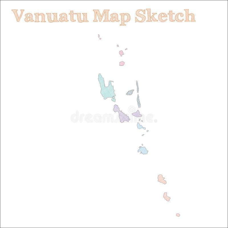 Vanuatu mapa royalty ilustracja