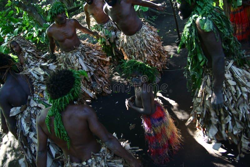 Vanuatu-Stammes- Dorfbewohner lizenzfreie stockfotografie