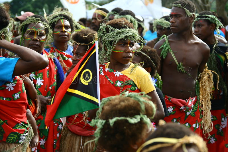 Vanuatu Tribal Villagers Editorial Image