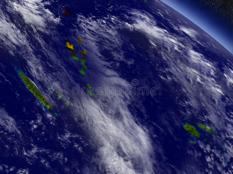Vanuatu z wbitą flaga na ziemi ilustracja wektor