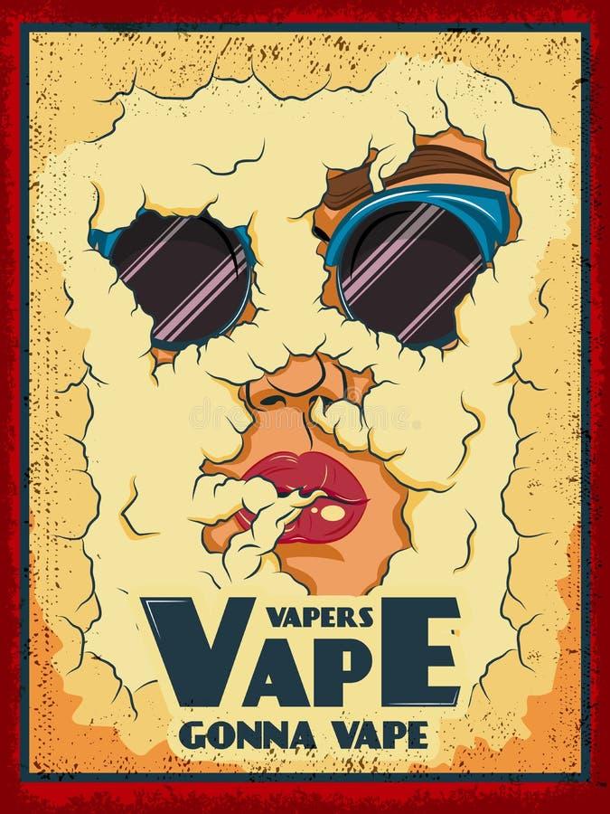 Vape покрасило плакат бесплатная иллюстрация