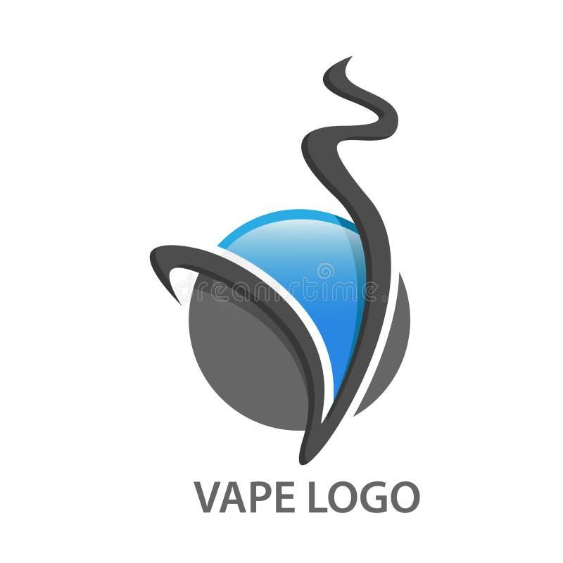 Vape logo illustrations Vector. EPS8. EPS10. Vape logo illustrations Vector. 3D design logo stock illustration