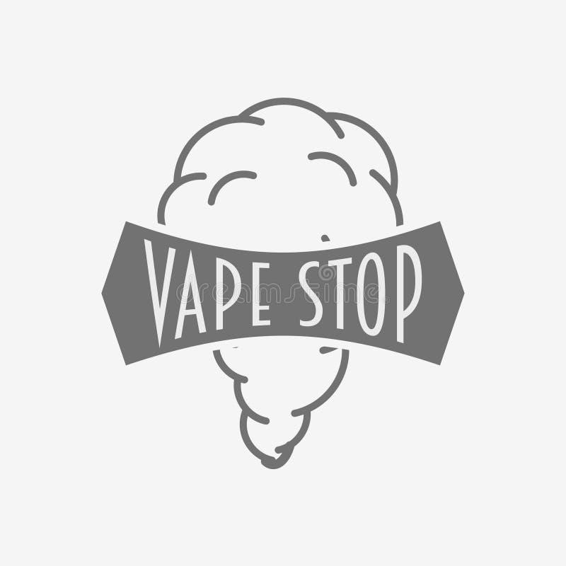 Vape Shop Badge, Logo Or Symbol Design Concept Isolated On White