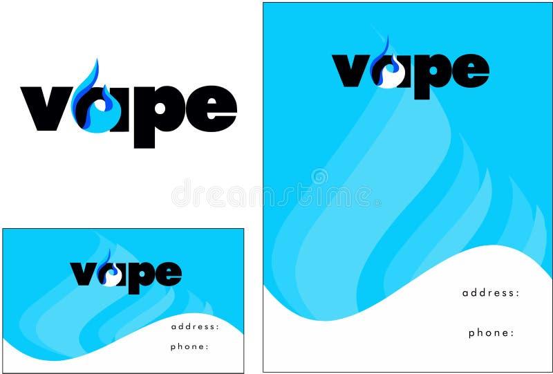 Vape, vapor bar logo, Business Card, Flyer Design. Vape, vapor bar logo, electronic cigarette logo vector illustration