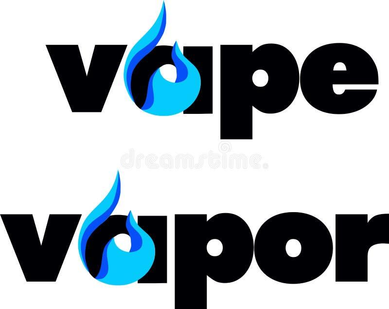 Vape, vapor bar logo. Electronic cigarette logo vector illustration