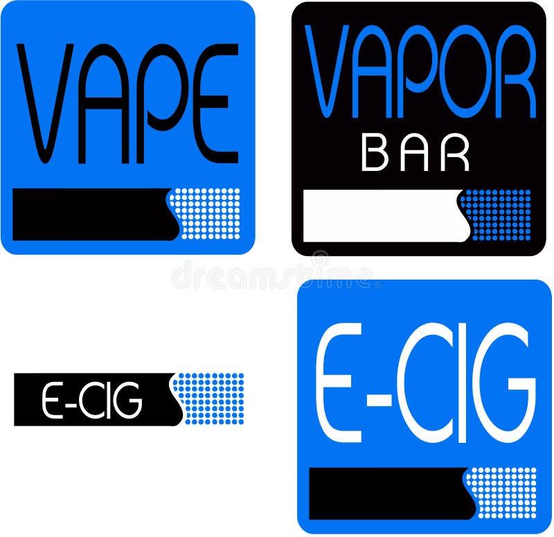 Vape, vapor bar logo. Electronic cigarette logo royalty free illustration