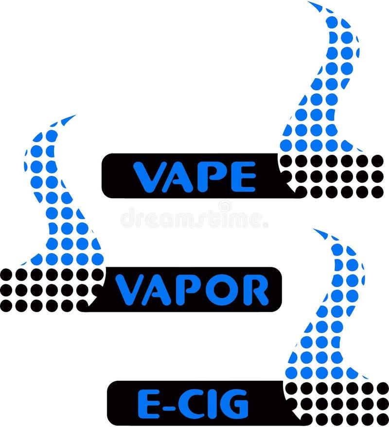 Vape, vapor bar logo. Electronic cigarette logo stock illustration
