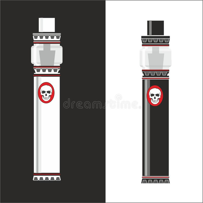 Vapemashin. logo pikcha Corel Draw Vector Graphic attached. Vector electronic cigarette for vaping shops and steam lovers. This logo is suitable for web design vector illustration