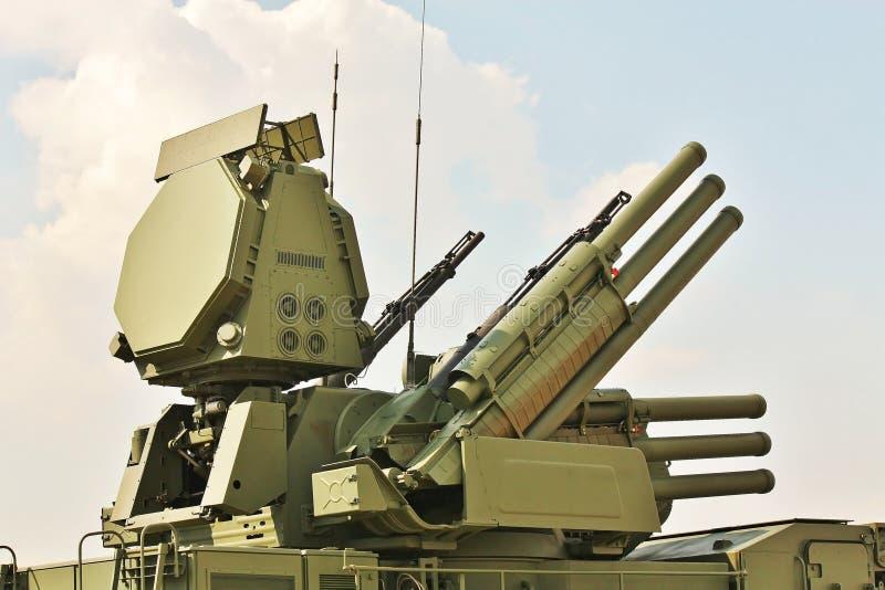 Vapen av anti-aircraft försvar royaltyfri foto