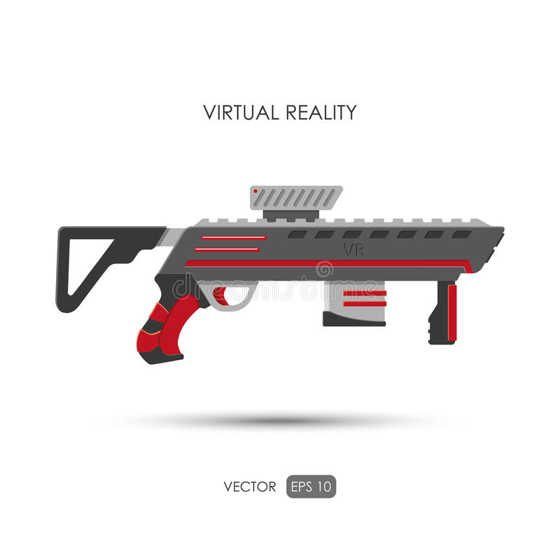 Vapen för virtuell verklighetsystem Modiga vapen vektor illustrationer