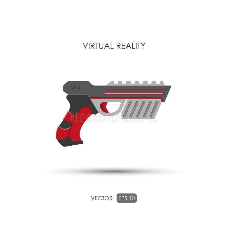 Vapen för virtuell verklighetsystem Modiga vapen royaltyfri illustrationer