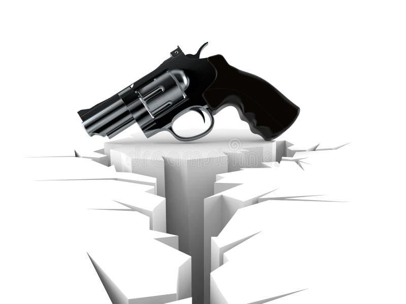 Vapen med det spruckna hålet vektor illustrationer