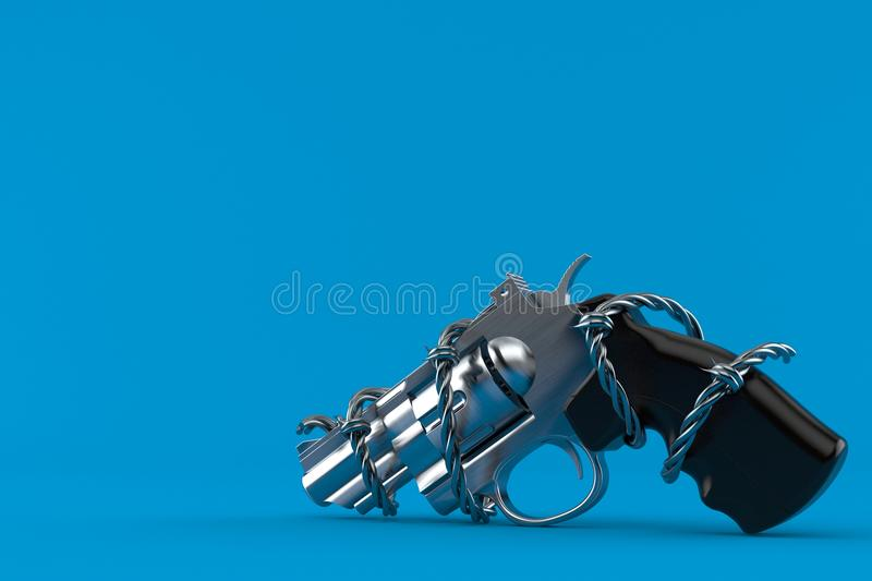 Vapen med försett med en hulling - tråd royaltyfri illustrationer