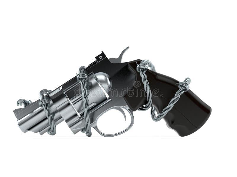 Vapen med försett med en hulling - tråd vektor illustrationer