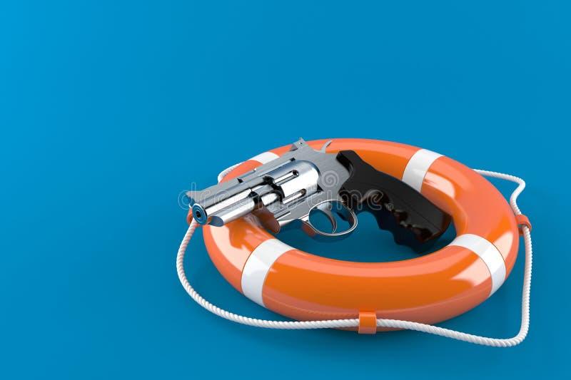 Vapen med livbojet vektor illustrationer