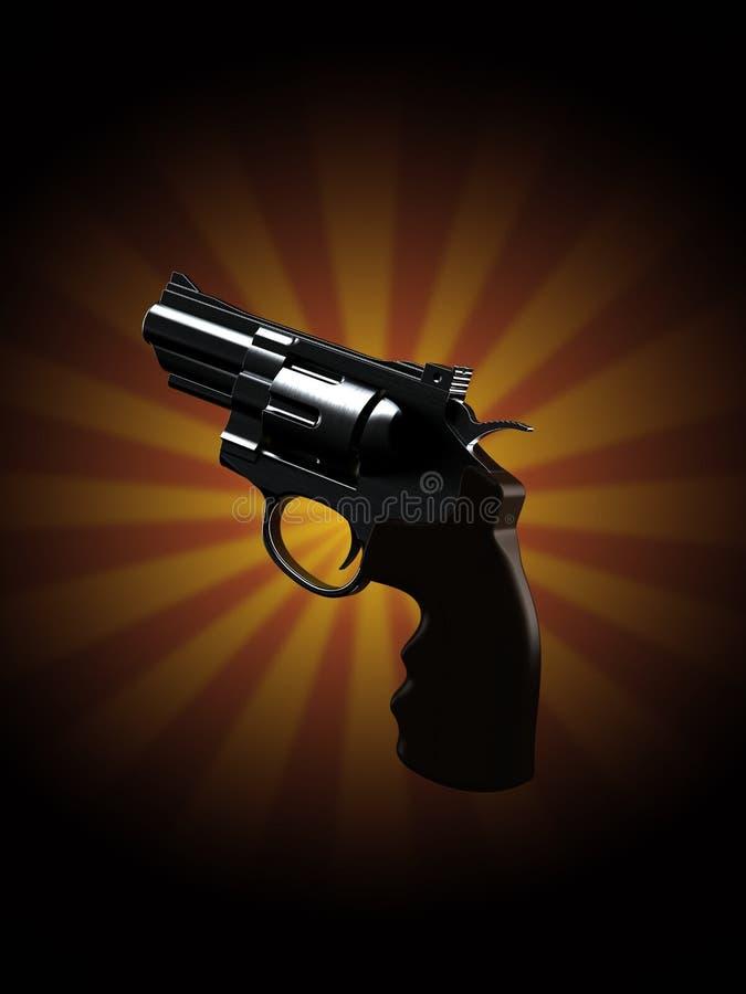 Vapen på strålbakgrund royaltyfri illustrationer