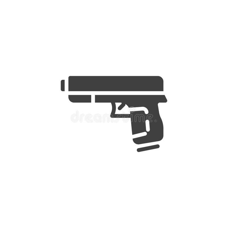 Vapen pistolvektorsymbol royaltyfri illustrationer