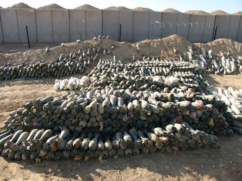 Vapengömställe som finnas i Helmand pronvinsen Afghanistan arkivfoto