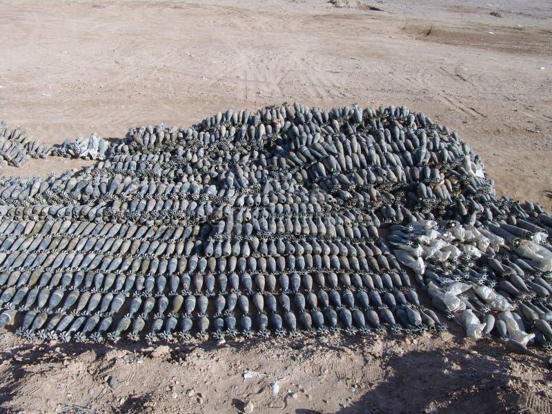 Vapengömställe som finnas i Helmand pronvinsen Afghanistan royaltyfri bild