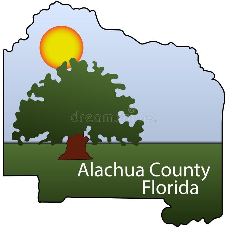 Vapensköld av Alachua County i Florida av USA stock illustrationer