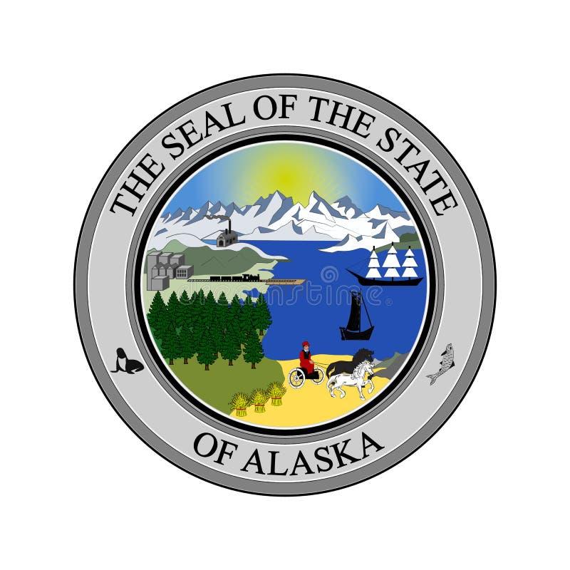 Vapensköld av Alaska, USA vektor illustrationer