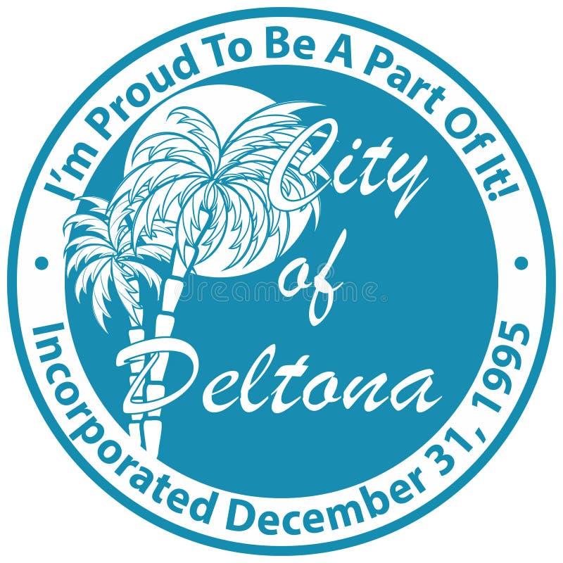 Vapensköld av den Deltona staden i Florida av USA vektor illustrationer