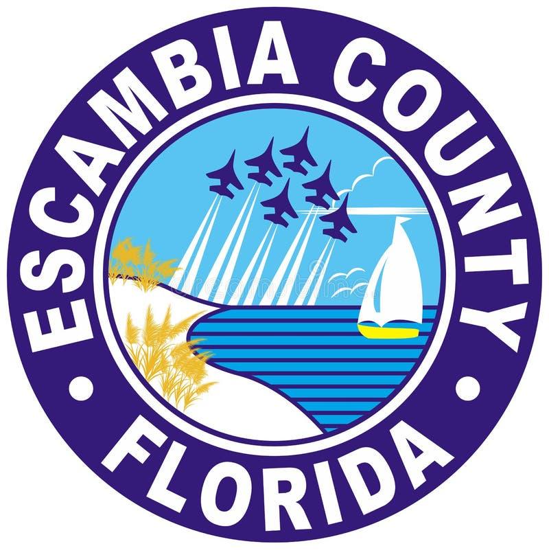 Vapensköld av Escambia County i Florida av USA royaltyfri illustrationer