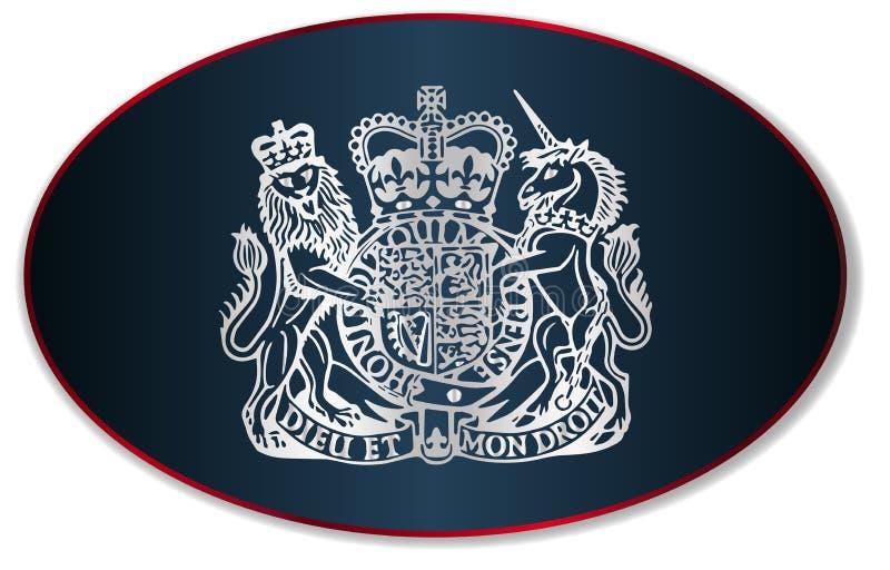 Vapensköld av Förenade kungariket royaltyfri illustrationer