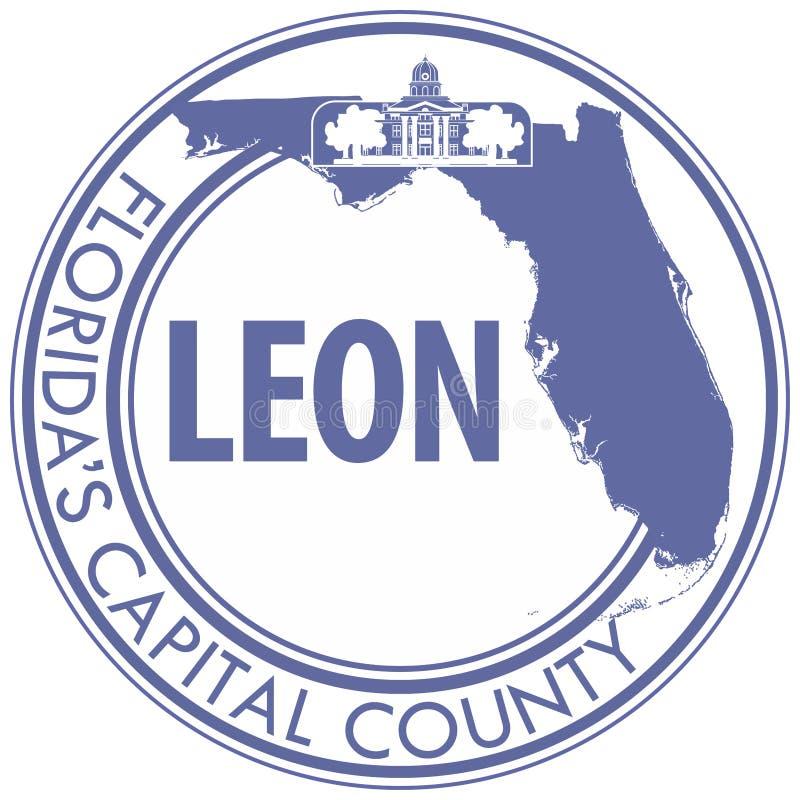 Vapensköld av Leon County i Florida av USA vektor illustrationer